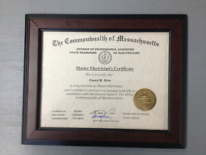 (14x17) QUALITY WOOD  1/1/2 Walnut Diploma/Certificate Frame, Backing, & Plexigl