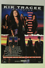"KIK TRACEE ""No Rules"" Full Page AD magazine clipping hard rock GLAM 1991"