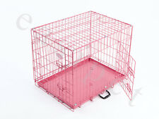 Pink Blue Dog Puppy Metal Training Cage Crate Carrier S M L XL sizes Easipet