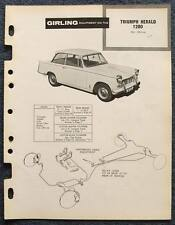 TRIUMPH HERALD 1200 GIRLING 1961 Car Brakes Installation Maintenance Data Guide