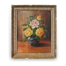 Ölbild Stilleben Rosen signiert: A. PUTZKER - altes Öl Bild üppige Rosenmalerei