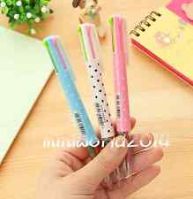 "3PCS Lovely Stationery""PATTEND DAYS""Multicolor Ball Point Pens 4 Colors in 1 Pen"