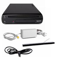 Wii u Consola 32Gb en Negro Black + Todos los Cables + Barra de Sensores Sin