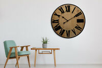 Walplus Timber Wall Clock 70 cm home decoration hallway living room decorations