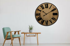 Walplus Timber Wall Clock 70 cm home decoration hallway living room decorations