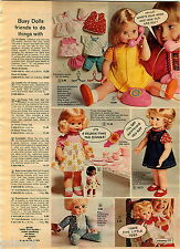 1972 ADVERT Floppy Tricia Doll Lazy Dazy Georgette Dottie Gabbigale Smartypants