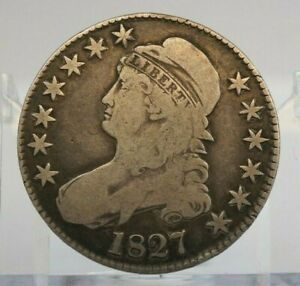 1827 50C 50 Cents Capped Bust Silver Half Dollar - H2245