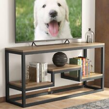 3Tier TV Stand Rustic Entertainment Center with Shelves Home Media Console Table