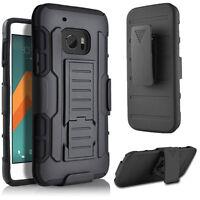 For HTC ONE M8 M9 M10 Hybrid Rubber Shockproof Belt Clip Holster Hard Case Cover