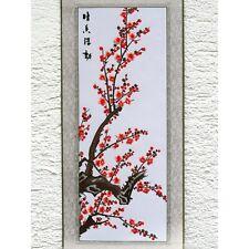 Pflaumenblüte, chinesisches Bild, Stickbild, Stoffbild, Stickerei, Stickkunst
