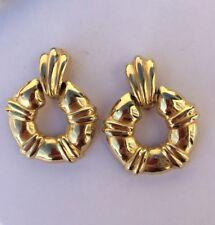 Boucle D'oreille Vintage  bijou ancien doré earing