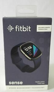 Fitbit Sense Health & Fitness Tracker Smartwatch FB512BKBK