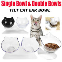 Non-slip Pet Cat Double Bowls+Raised Stand Pet Food Water Bowl Cats Dog Feeder