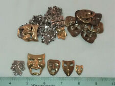 Assorted For Jewelry & Crafting- Made 30 Brass Stampings- Comedy/ Tragedy Theme,