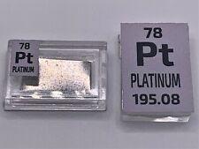 5 Grains 99.99% Peguys Pure PT Platinum Barre En Périodique Élément Tuile
