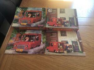 2 X Vintage Postman Pat 20 Piece Wooden Puzzles