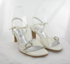 Ladies Shoes Size 5 Ivory Party, Prom, Wedding Evening (K30/6/17-23)