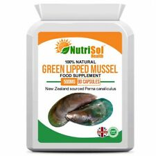 Green Lipped Mussel Extract 500mg 90 Capsules for Healthy Joints, Immune System