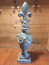 """1 New Resin Vintage Antique Fleur De Lys Finial Statue Sculpture 34.5""""H"""