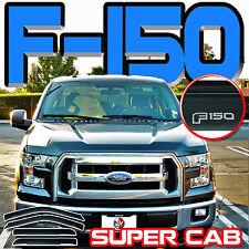2015-2018 F150 Supercab Side Window Deflectors Vent Shades Sun Visors Super Cab