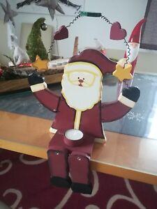 Großer Kantenhocker Nikolaus Weihnachtsmann Deko Dekoration Weihnachten