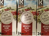 New England Coffee Company; K Cups; Breakfast Blend; 72 Count **Best by 9/2020**