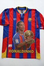 TORRES SPORT FOOTBALL CLUB BARCELONA #10 RONALDINHO 100% POLYESTER JERSEY sz L