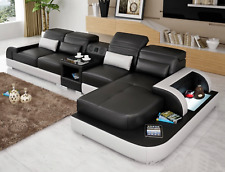 Contemporary Living room Italian leather Sectional sofa