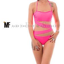 Monokini donna costume da bagno intero velato trasparente piscina da mare H32651