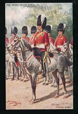 Artist HARRY PAYNE Royal Scots Greys Officer Review Tuck Oilette #9980 PPC 1912