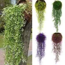 Artificial Fake Hanging Flower Vine In Basket Plant Wall Decor Outdoor Garden