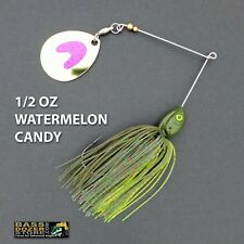 Bassdozer spinnerbaits LONG ARM THUMPER 1/2 oz WATERMELON CANDY spinner bait