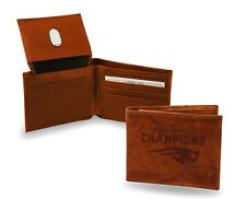 New England Patriots Super Bowl LIII Champions Leather Bifold Wallet Billfold