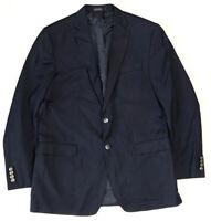 Michael Kors Mens 42 Long Wool Blend Navy Blue Jacket Sport Coat 2 Button