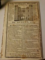 (1771) Gentleman's Magazine Hutchinson Letters/Colonial American/Boston/and more