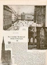 Elsass-Lothringen Illustrierte Reise 1896 Straßburg Strasbourg Colmar Metz Barr