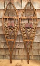 Vintage Wooden TUBBS Norway ME Snowshoes Log Cabin Restaurant Home Decor 44""