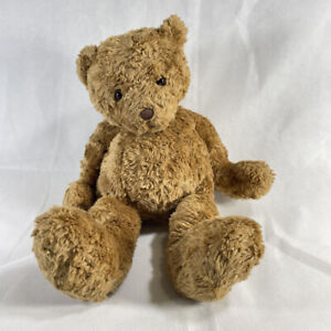 Gund LARGE BROWN SHAGGY FUR TEDDY BEAR Stuffed Animal PLUSH SOFT TOY Cute 43177