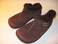 Merrell Spirit Tibet Low Youth Brown Leather Slip on Shoes - US 2 (EU 33)