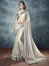 Wedding Bridal Saree Bollywood Indian Designer Sarees heavy work Sari blouse