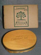 Longaberger 2001 Collector's Club Shaker Harmony #5 Basket Protector Lid Box Euc