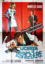Affiche 140x200cm NE NOUS FÂCHONS PAS (LICENZA DI ESPLODORE) 1966 Lino Ventura #