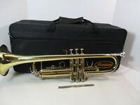 MERANA Trumpet w/ Case, Bright Brass, Excellent Condition, 7C Mouthpiece