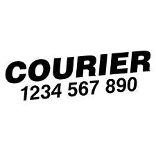 CUSTOM TEL NUMBER COURIER CAR VAN TRUCK STICKER Decal Car Vinyl Personalized ...