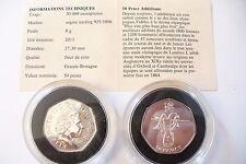 SUPERBE MÉDAILLE/MONNAIE  50 PENCE ARGENT BU - JO 2012 A VOIR !   (code 14/2/16)