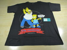 VINTAGE THE SIMPSONS CARTOON BART SHAKE IT HOMER TEE SHIRT L BLACK