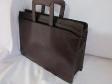 Vintage MALLARD Top Grain Leather Messenger Document Bag Brown (NEEDS STRAP) #28