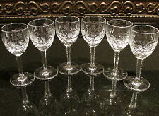 6 Cut Crystal Elegant Shot Glasses with Stars and Pineapples Very Shiny