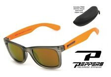 NEW Peppers Sweet Gold Mirror Polarized Mens Sunglasses + Electric Case Msrp$57
