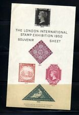 London International Stamp Exhibition 1950 Souvenir Sheet with pictures of class